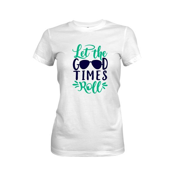 Let The Good Times Roll T Shirt White