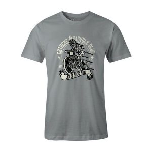 Lets Ride Bike T Shirt Silver