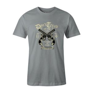 Liberty of Death T Shirt Silver