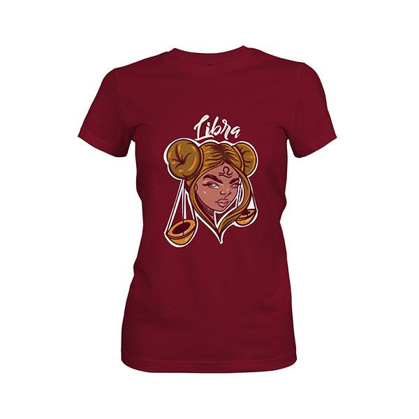 Libra T shirt maroon
