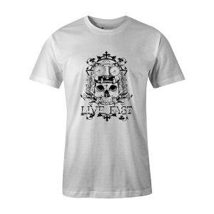 Live Fast T shirt white