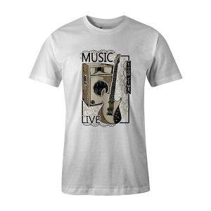 Live Music T shirt white