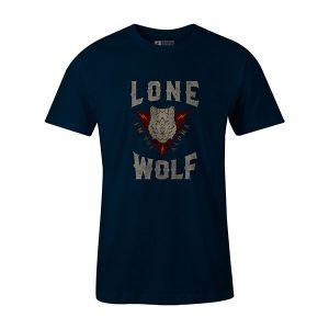 Lone Wolf T shirt navy