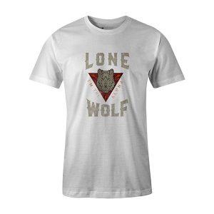 Lone Wolf T shirt white