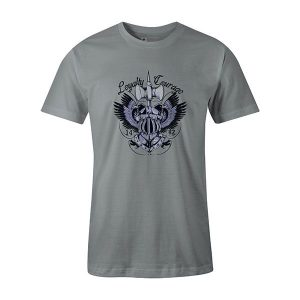Loyalty and Courage T shirt silver