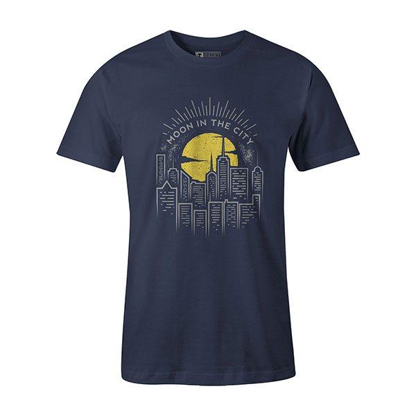 Moon In The City T shirt heather denim