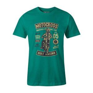 Moto Cross T Shirt Teal