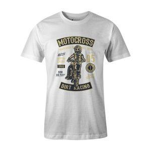 Moto Cross T Shirt White