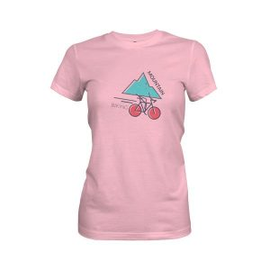 Mountain Biking T Shirt Light Pink