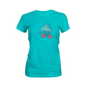 Mountain Biking T Shirt Tahiti Blue