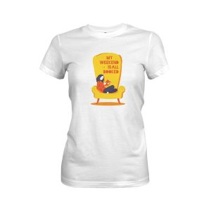 My Weekend Is Booked T Shirt White