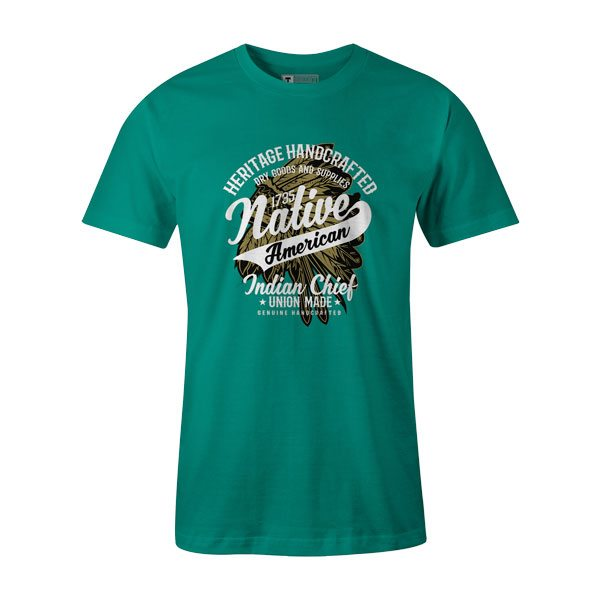 Native American Indian Chief T Shirt Teal