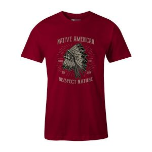 Native American Respect Nature T Shirt Cardinal