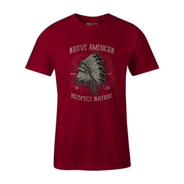 Native American Respect Nature T Shirt Cardinal