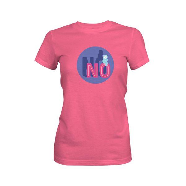 No T Shirt Hot Pink