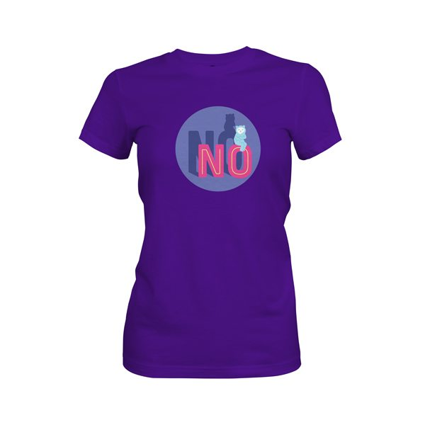 No T Shirt Purple Rush
