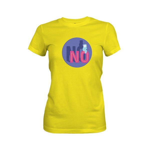 No T Shirt Vibrant Yellow