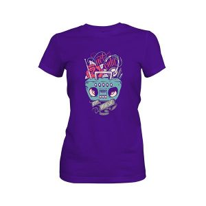 Not Only For Music T shirt purple rush