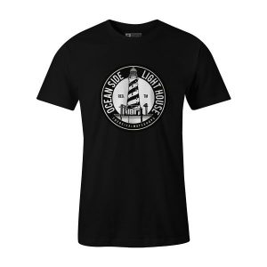 Oceanside Lighthouse T Shirt Black