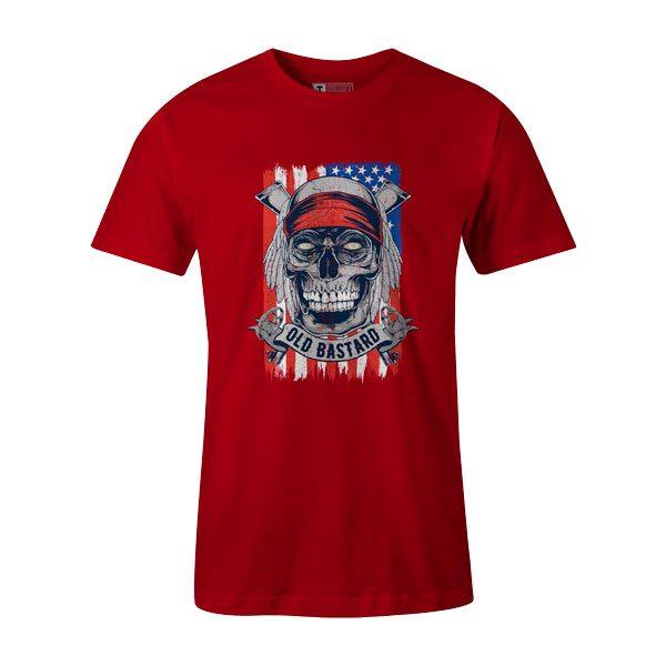 Old Bastard T Shirt Red