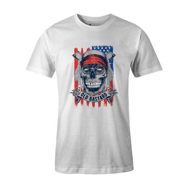 Old Bastard T Shirt White