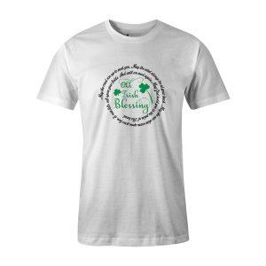 Old Irish Blessing T Shirt White 1