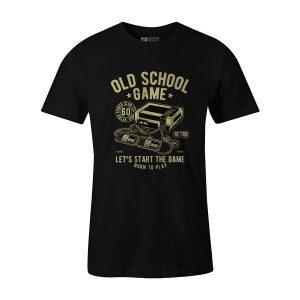 Old School Game T Shirt Black