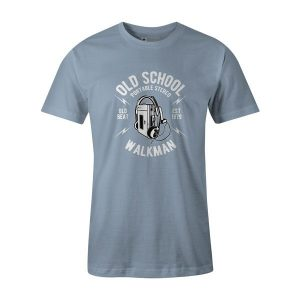 Old School Walkman T Shirt Baby Blue