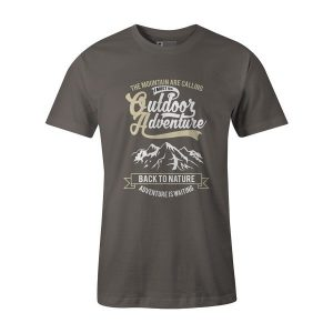 Outdoor Adventure Back To Nature T Shirt Charcoal