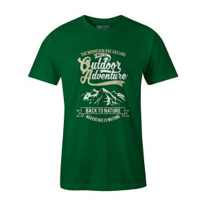 Outdoor Adventure Back To Nature T Shirt Kelly