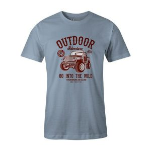 Outdoor Adventure Go In To The Wild T Shirt Baby Blue