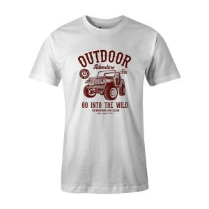 Outdoor Adventure Go In To The Wild T Shirt White
