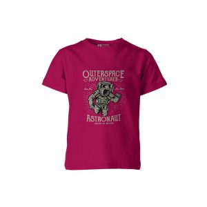 Outerspace Adventurer T Shirt Fuschia