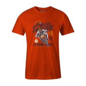 Pedal Pusher T Shirt Orange