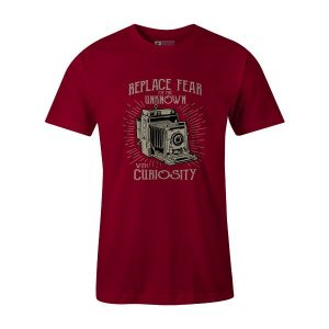 Replace Fear T Shirt Cardinal