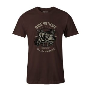 Ride With Me T Shirt Brown