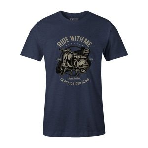 Ride With Me T Shirt Heather Denim