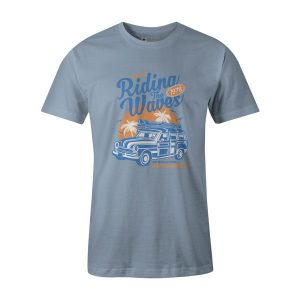 Riding The Waves T Shirt Baby Blue