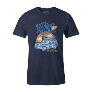 Riding The Waves T Shirt Heather Denim