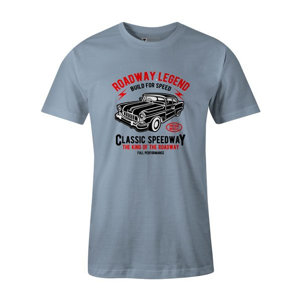 Roadway Legend Classic Speedway T Shirt Baby Blue