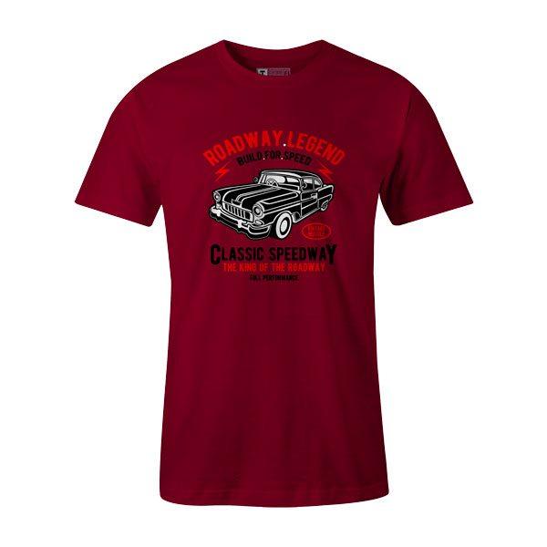 Roadway Legend Classic Speedway T Shirt Cardinal