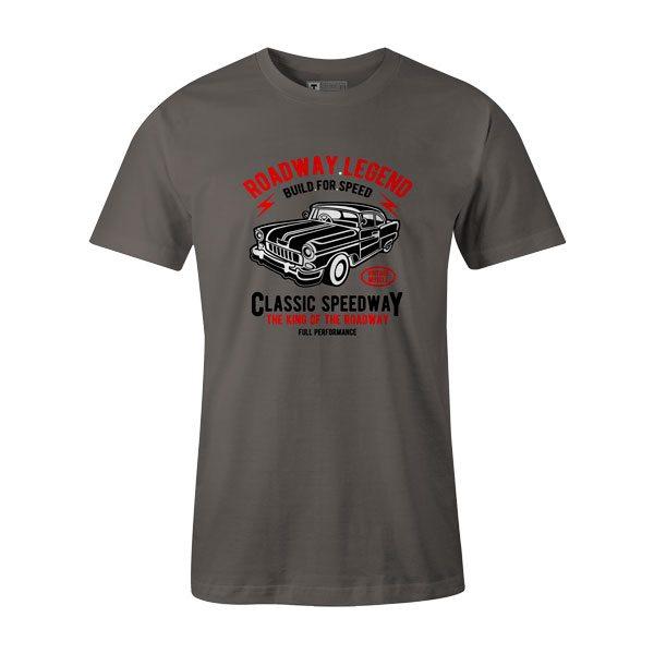 Roadway Legend Classic Speedway T Shirt Charcoal