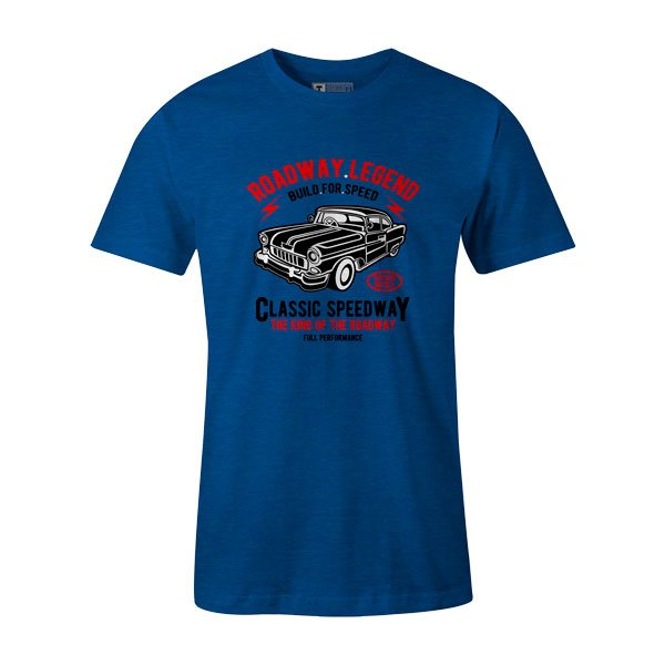 Roadway Legend Classic Speedway T Shirt Heather Royal