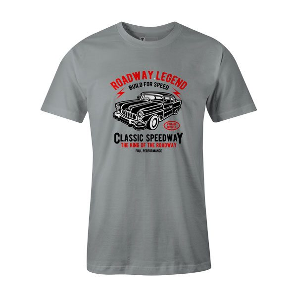 Roadway Legend Classic Speedway T Shirt Silver