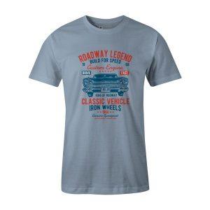 Roadway Legend Classic Vehicle T Shirt Baby Blue