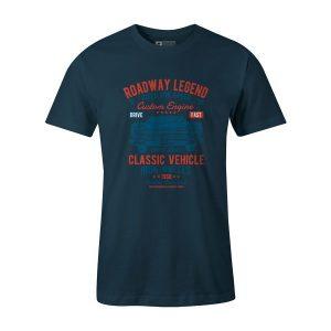 Roadway Legend Classic Vehicle T Shirt Indigo