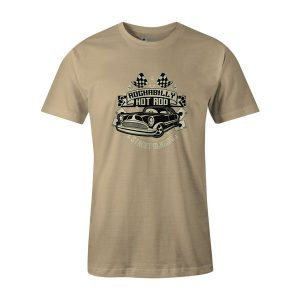 Rockabilly Hotrod T Shirt Natural