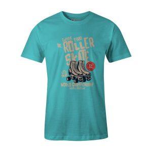 Roller Skate T Shirt Aqua