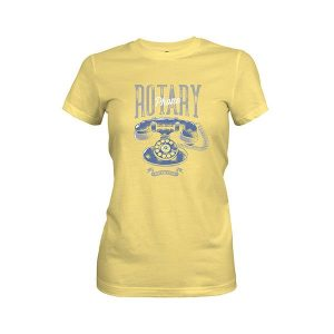Rotary Phone T shirt banana cream