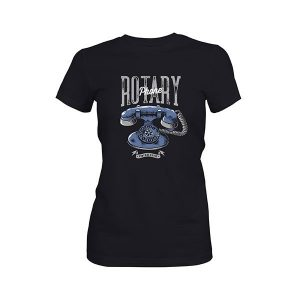 Rotary Phone T shirt black